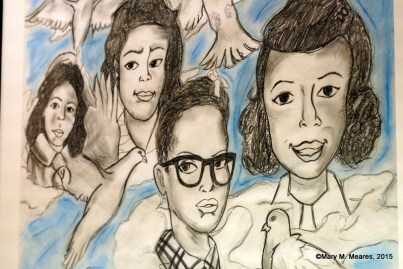 """Four Angels"" by Clifford Watkins, Junior, Huffman High School."