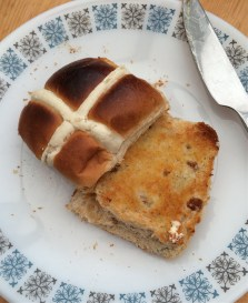 FIrst hot cross bun of the year!