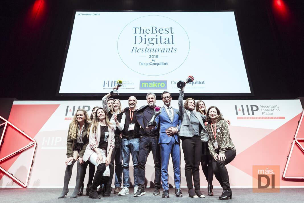 El certamen tuvo lugar dentro de Expohip. foto: 'The Best Digital Restaurants 2018' Mejor Restaurante Digital