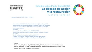 CatedraSobrePactoGlobal23Sep2021