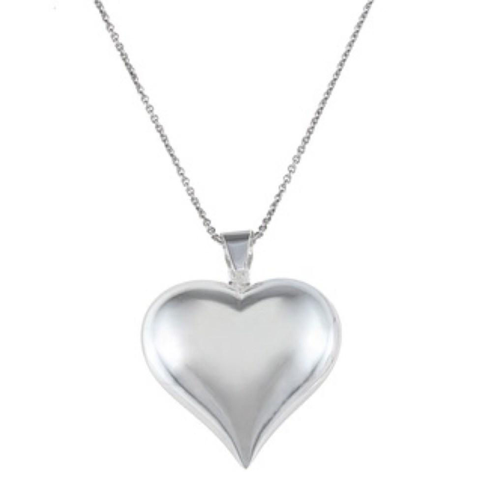 Cadena de plata con dije de corazón plata 9.25 precio 25