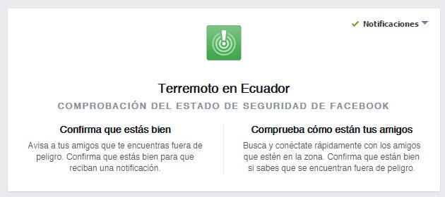 Facebook Terremoto Ecuador