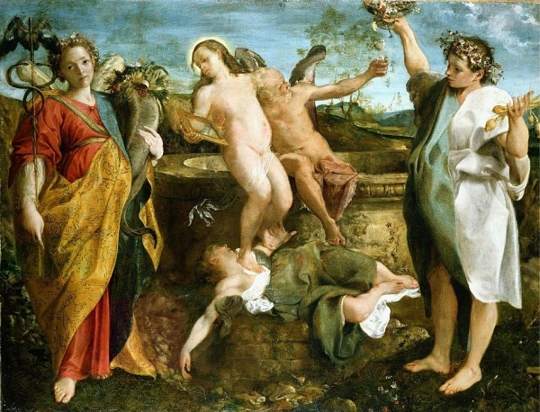 Annibale Carracci - An allegory of Truth and Time