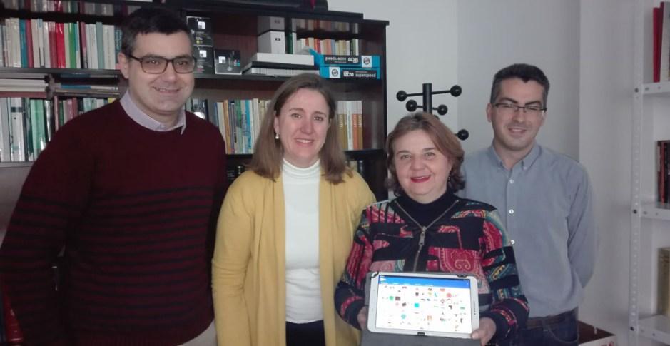 Marina Calleja, de Psicología; Encarnación Postigo, de Traducción, y Francisco Chicano y Gabriel Luque, de Informática.