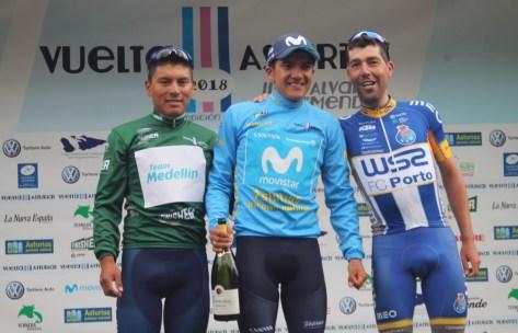 Ricardo Mestre se lleva la victoria en Oviedo y Richard Carapaz, la Vuelta Ciclista a Asturias