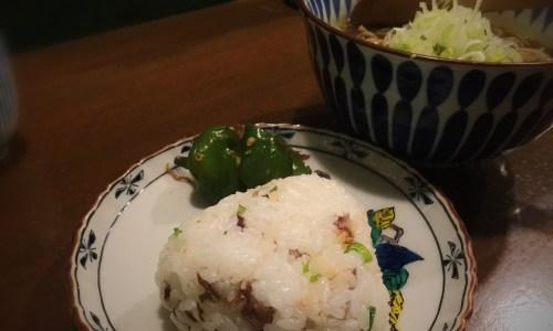 昼飯晩飯 でら Dランチ カレー南蛮+ブリの味噌漬け焼きおにぎり