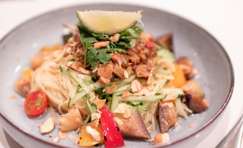 肉味噌と香味野菜の冷製パスタ