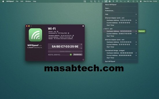 WiFiSpoof 3.5.9 Crack For MAC With Serial Key Download 2022