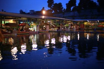 Floating Market Lembang at night