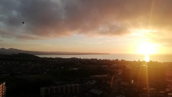 杉乃井ホテルから見た朝日