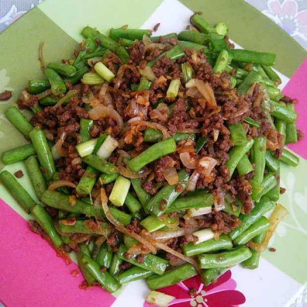 7. Tumis Buncis Daging Cincang