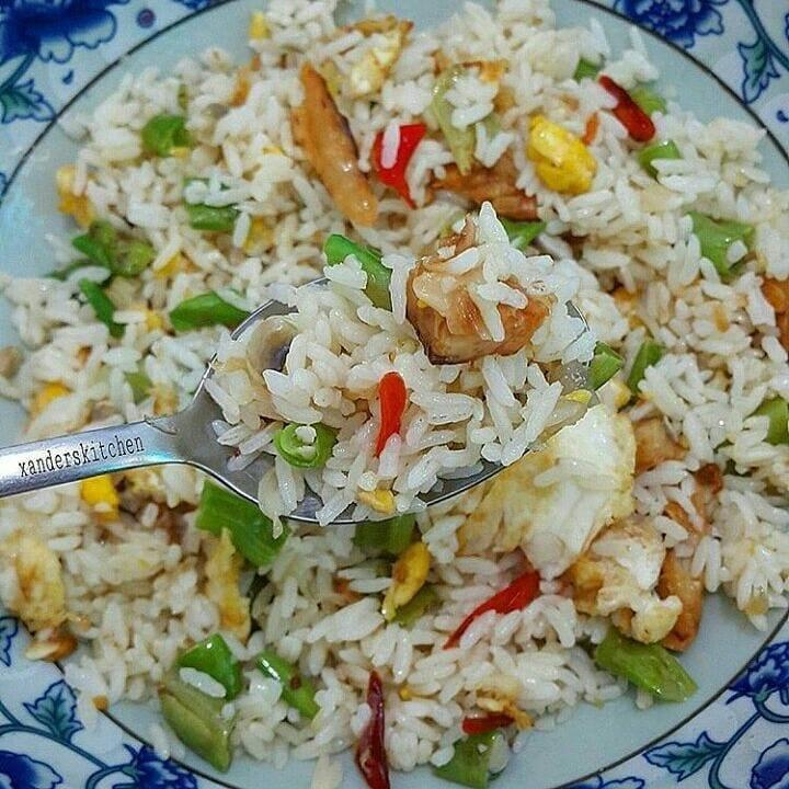 Cara membuat Nasi Goreng Ikan Asin
