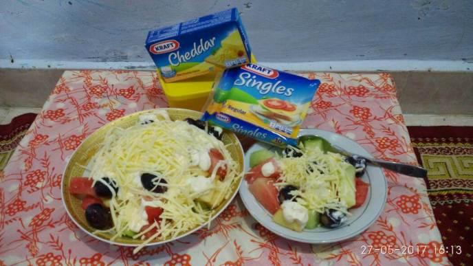 3. Cara Membuat Salad Buah Keju KRAFT