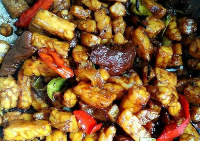 Masakan Sambal Goreng Daging Tahu Tempe