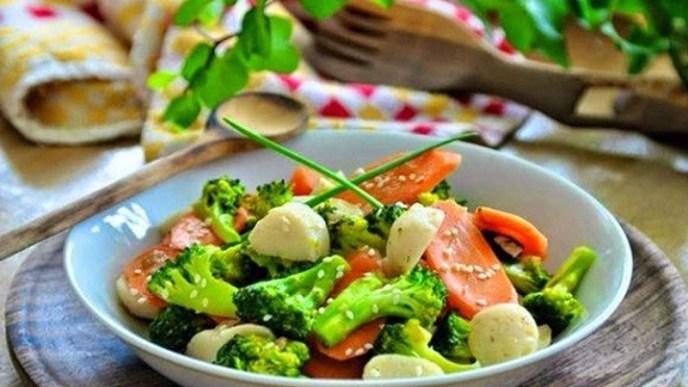 salad brokoli wortel