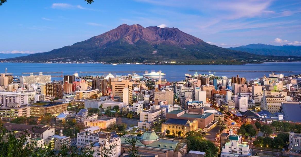 Кагосима (島 児 島). Город в Японии.