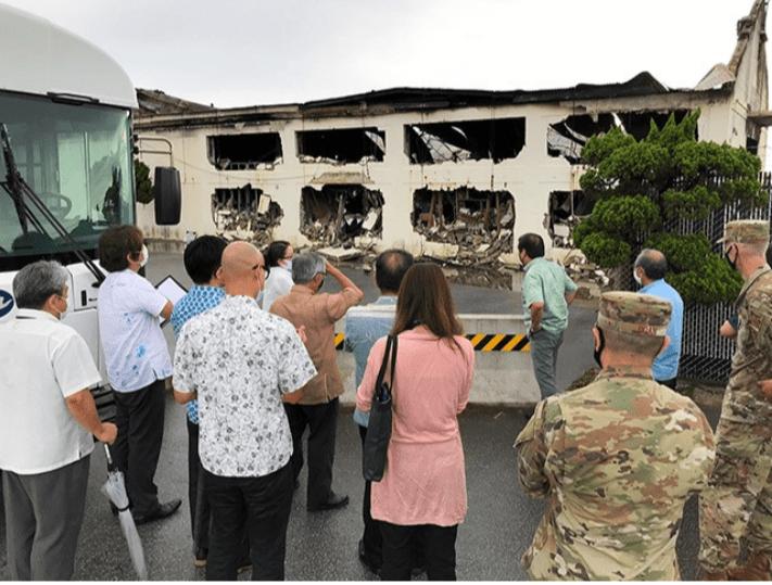 Реакция США на токсичный пожар на военной базе вызывает ярость на Окинаве