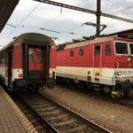 コシツェからブラチスラヴァまで鉄道で移動