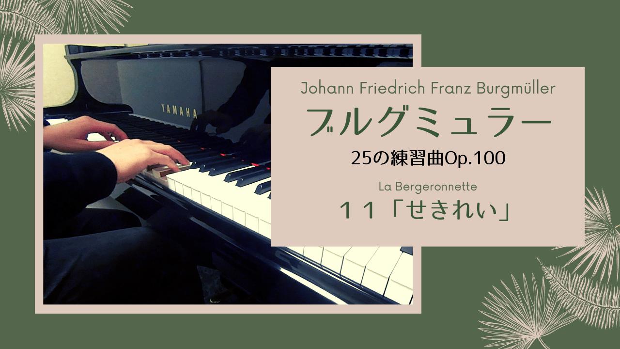 【独学ピアノ】ブルグミュラー:25の練習曲Op.100-11 「せきれい」