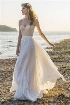 Chic Nostalgia boho chiffon wedding gown
