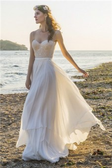 Chic Nostalgia boho chiffon wedding gown