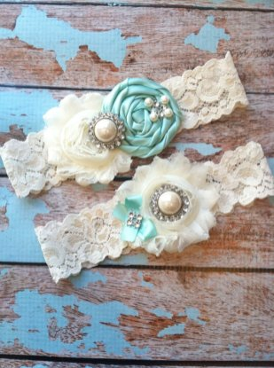 custom made weding garters