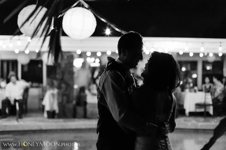 The couple dance the night away.