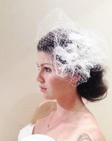 birdcage floral hairpiece