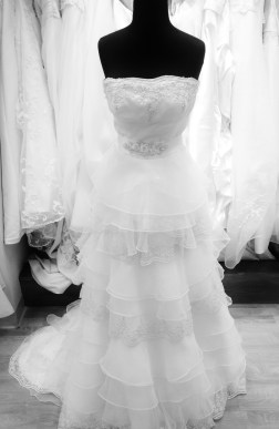 Vintage wedding dress shop sample