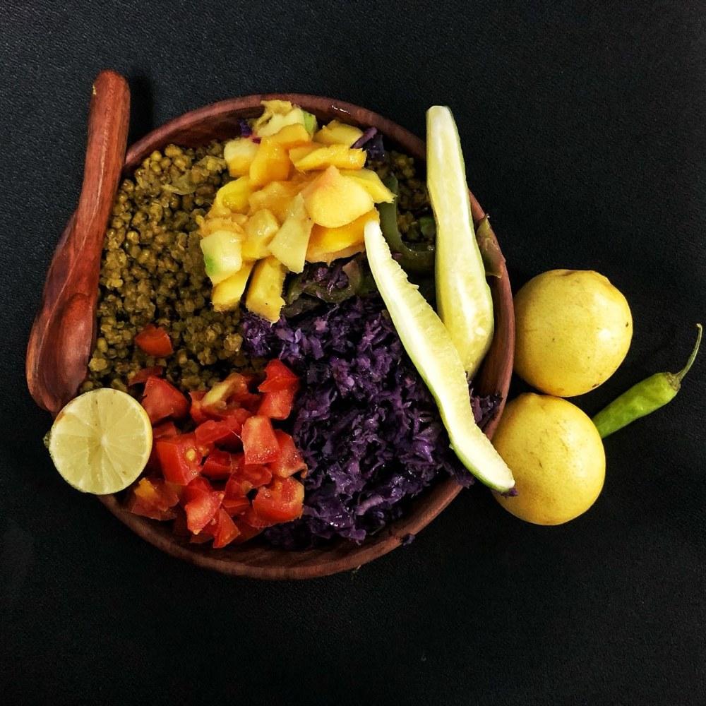 Moong-daal-veggie Salad