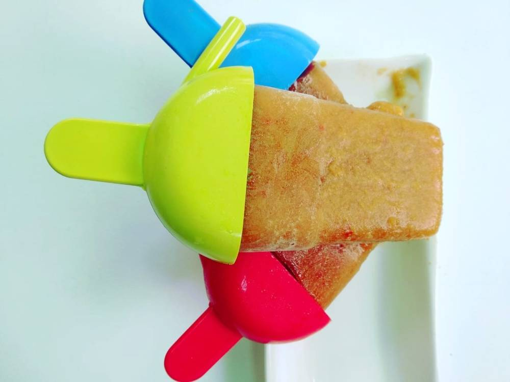 Peach-popsicles