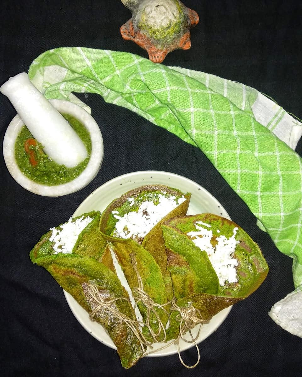 Bathua-chickpea Crepes