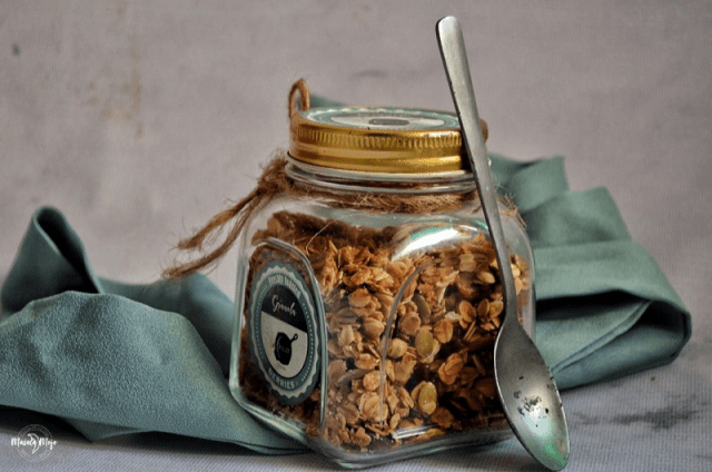 Store Homemade Granola in an air tight container