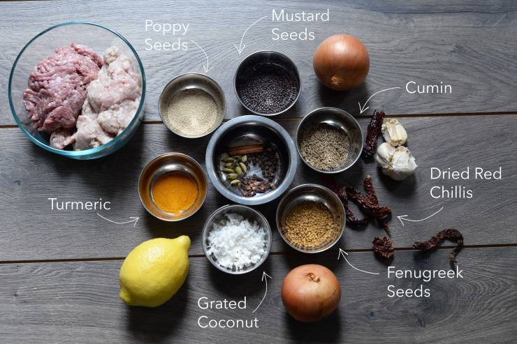 ingredients-meatball-curry-indian-home-made-recipe
