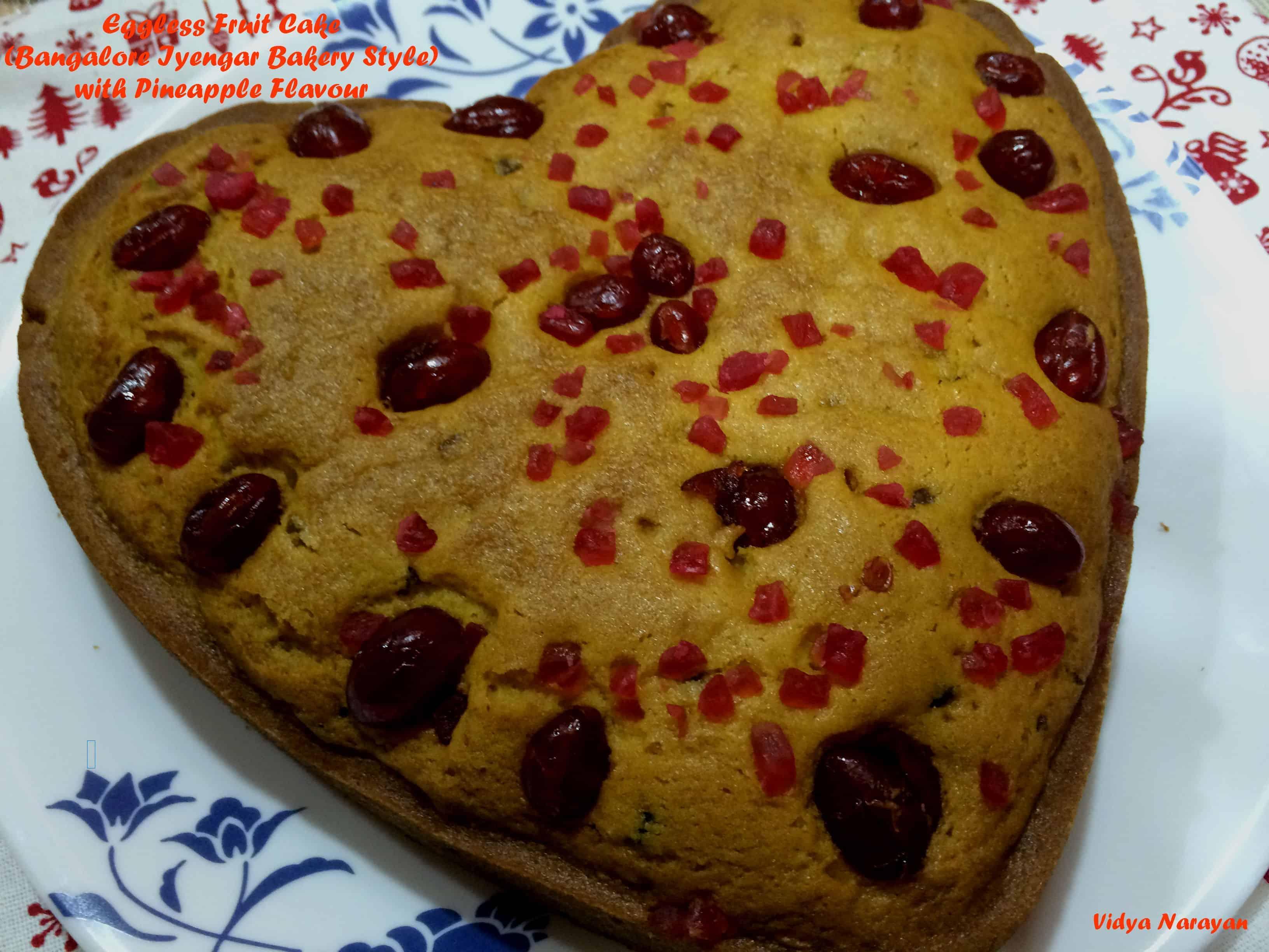 Eggless Tutti Fruity Cake (Bangalore Iyengar Bakery Style)