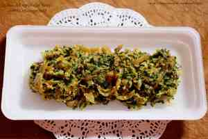 Samudri Methi Chi Bhaji (Fenugreek Microgreens Sabzi in Maharashtrian Style)