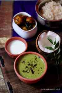 Mor Keerai (Spinach Greens in a Yoghurt and Coconut Sauce / Gravy)