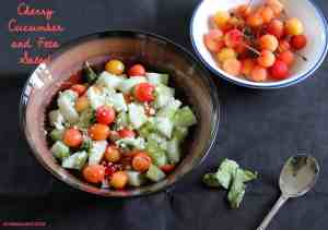 Cherry Cucumber and Feta Salad