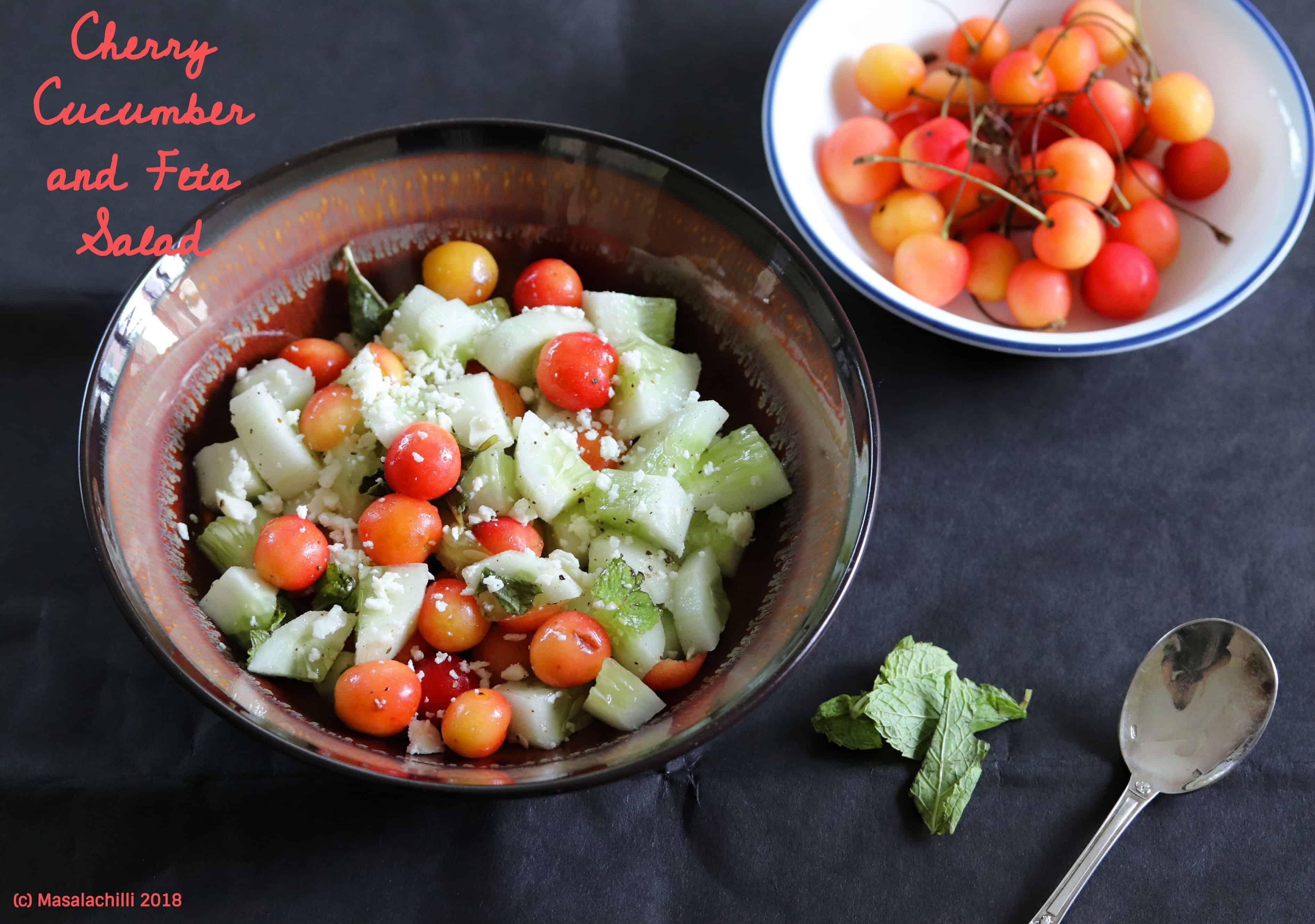 Cherry Cucumber and Feta Salad