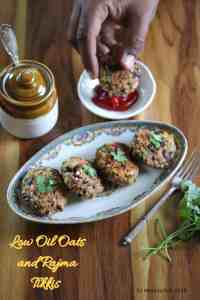 Low Oil Oats and Rajma Tikki
