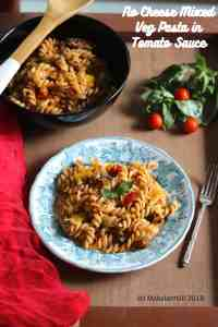 Vegan Tomato Sauce Pasta with Mixed Vegetables