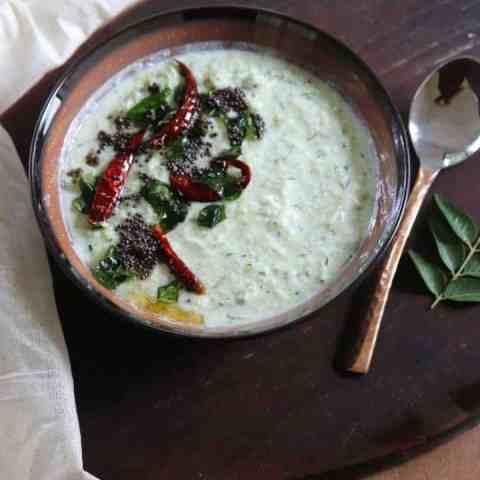 Zucchini Cucumber thayir Pachadi