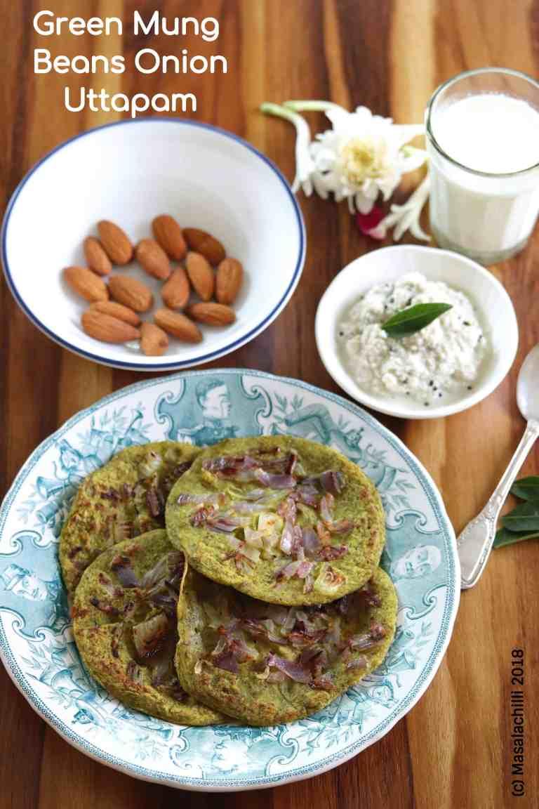 Green Mung Beans Onion Uttapam