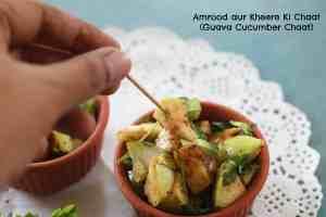 Amrood aur Kheere ki Chaat