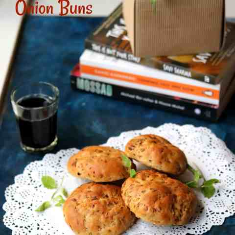 Whole Wheat Cumin and Onion Buns