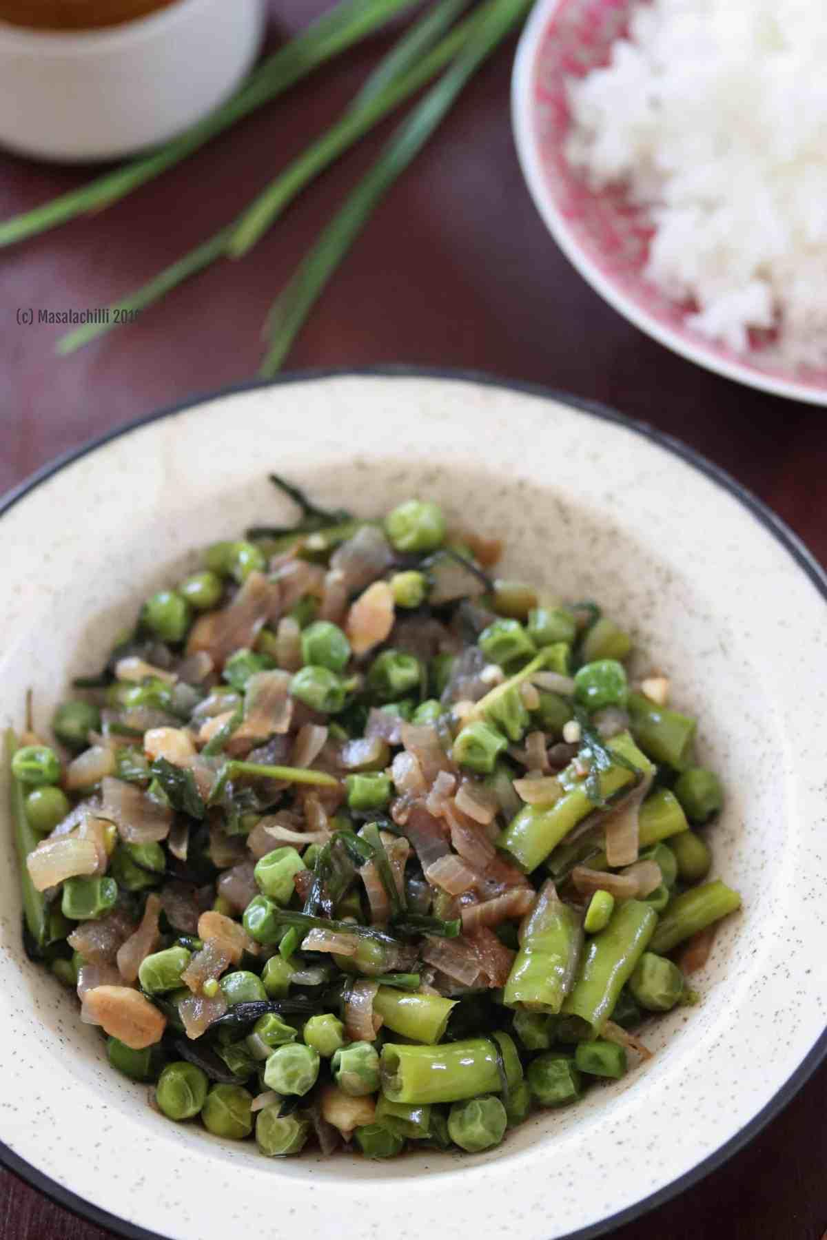 Green Peas Uti Recipe, Manipur Cuisine, North East Recipes
