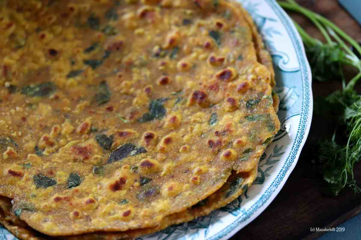 Missi Roti Recipe, A popular North Indian Flatbread Recipe also known as Masala Roti
