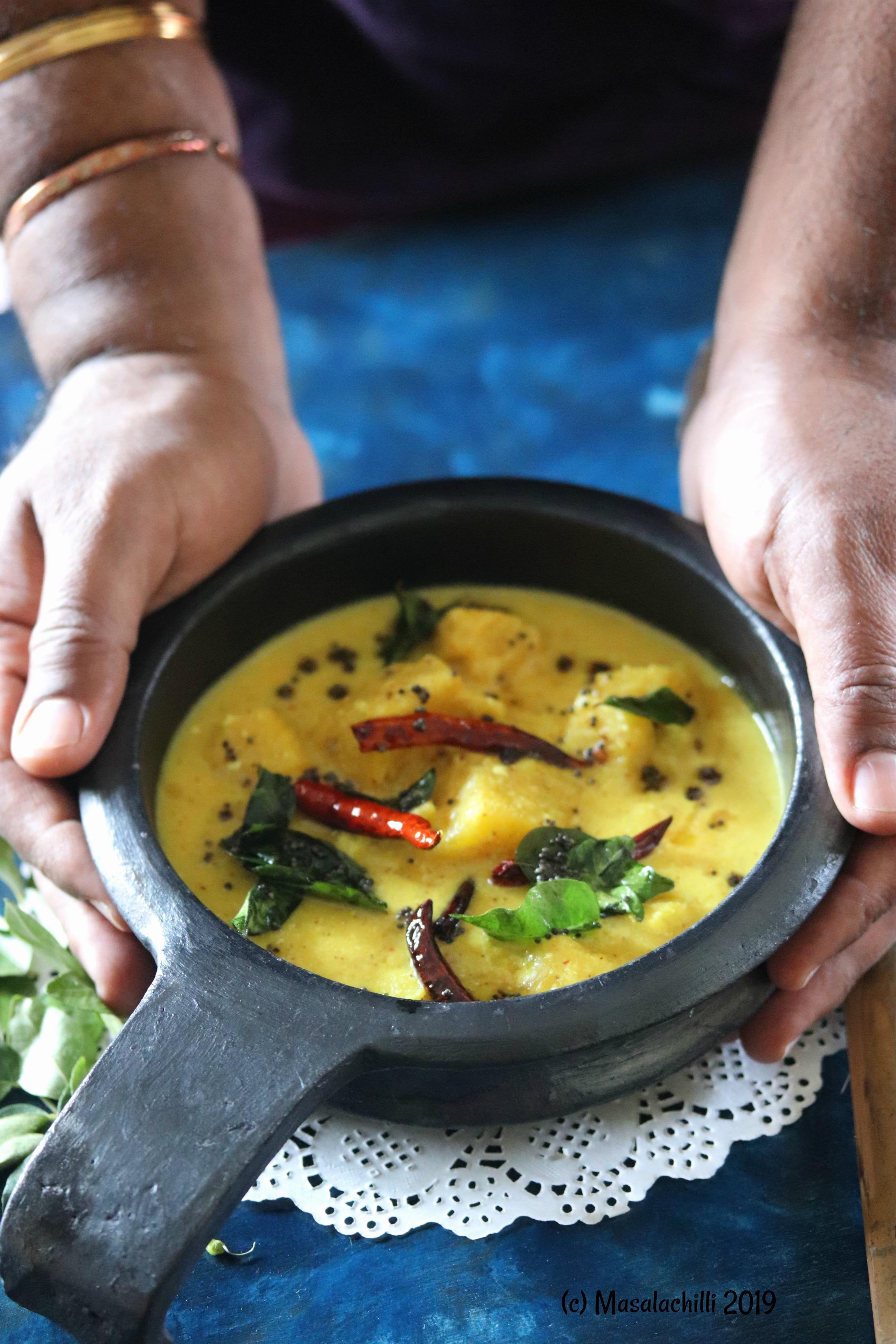 Pineapple Pachadi (Spicy Kerala Style Coconut Yogurt Gravy)