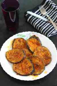 Vangyache Kaap / Pan Fried Crispy Eggplant