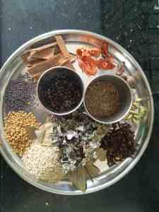 Ingredients for goda masala